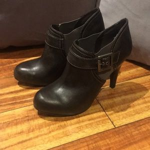 Victor Alfaro Leather Buckle Booties